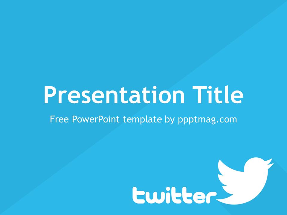 Free twitter powerpoint template pptmag maxwellsz