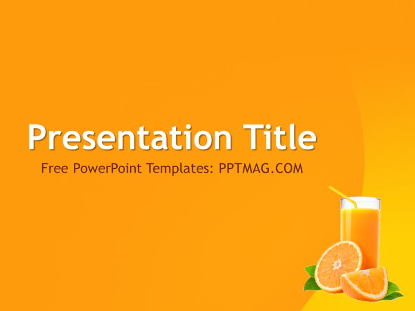 Free Orange Juice Powerpoint Template Pptmag