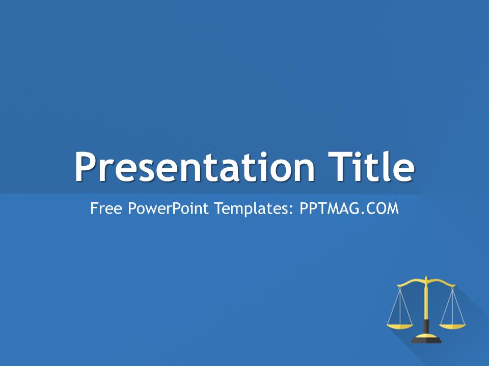 Free Flat Law PowerPoi...