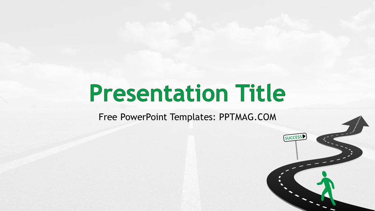 Free road to success powerpoint template pptmag toneelgroepblik Choice Image