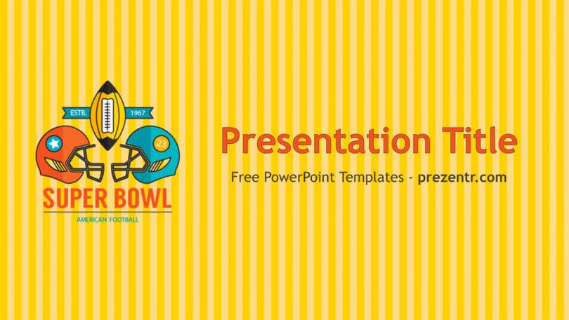 Free Super Bowl Powerpoint Template Prezentr Ppt Templates