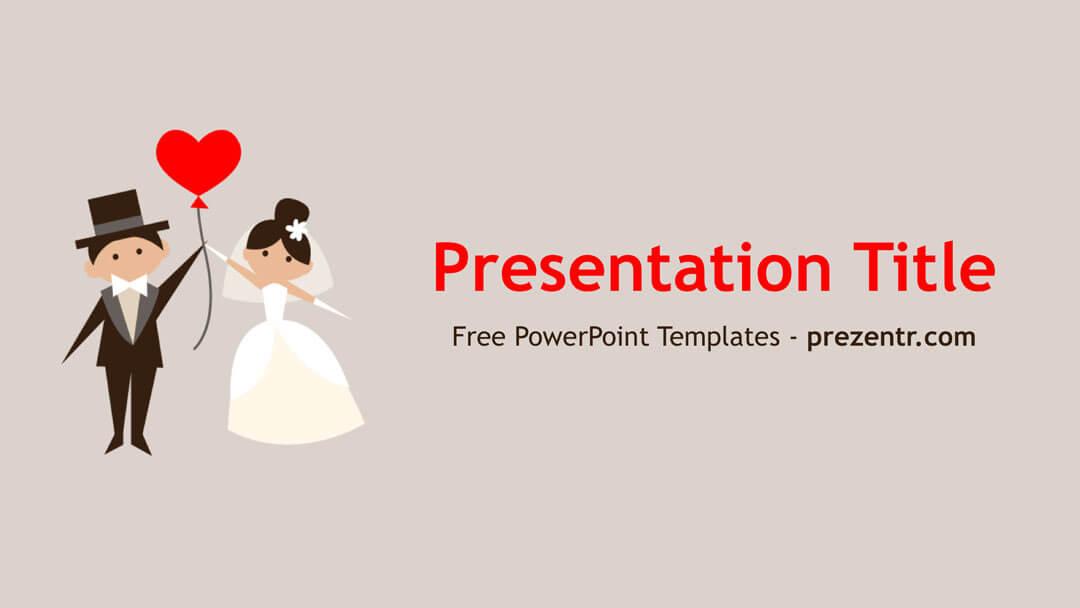 Free Wedding Couple Powerpoint Template Prezentr