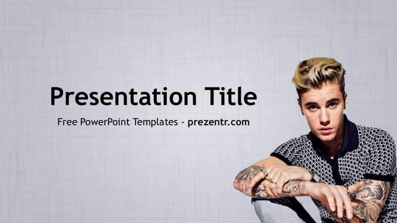 Free Justin Bieber Powerpoint Template Prezentr