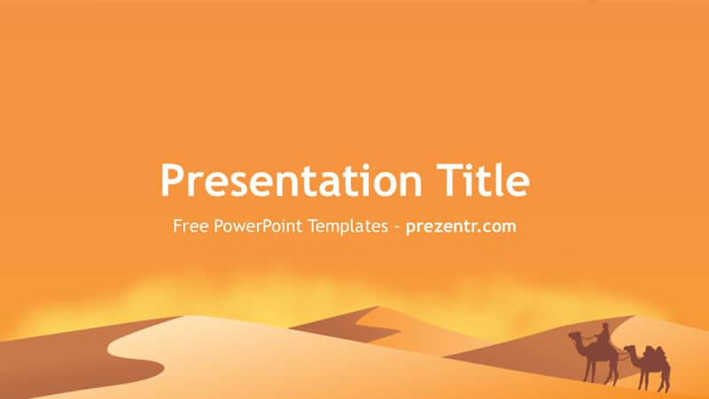Free arid desert powerpoint template free powerpoint templates.