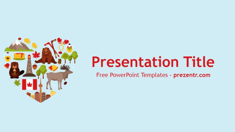 Free canada powerpoint template prezentr powerpoint templates.