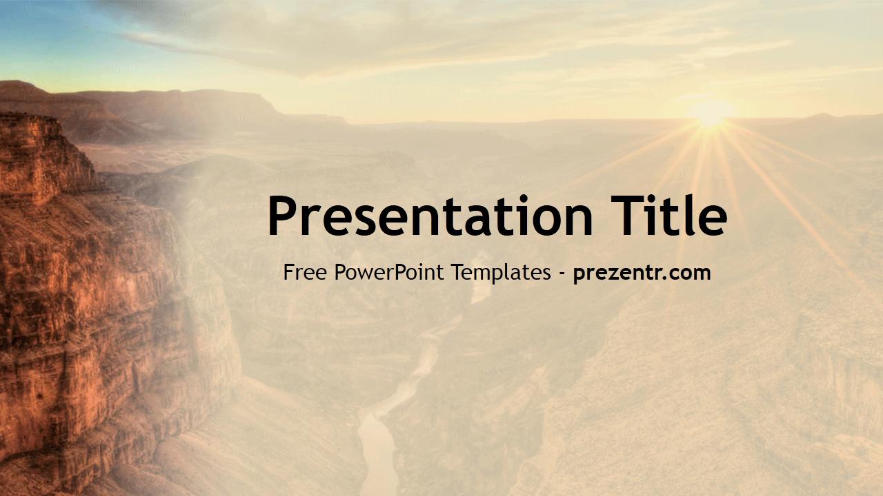 Free Canyon Powerpoint Template Prezentr Powerpoint Templates