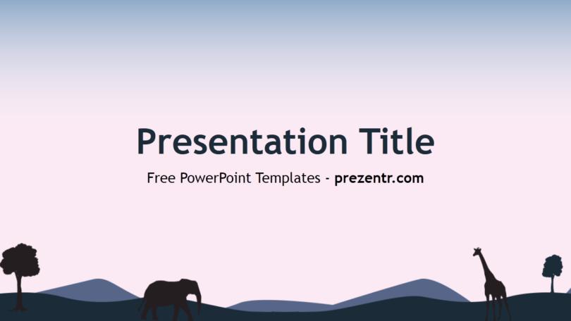 Free Savannah Powerpoint Template Prezentr Powerpoint