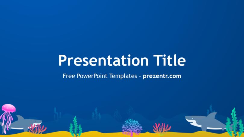 Free Sharks Powerpoint Template Prezentr Powerpoint Templates
