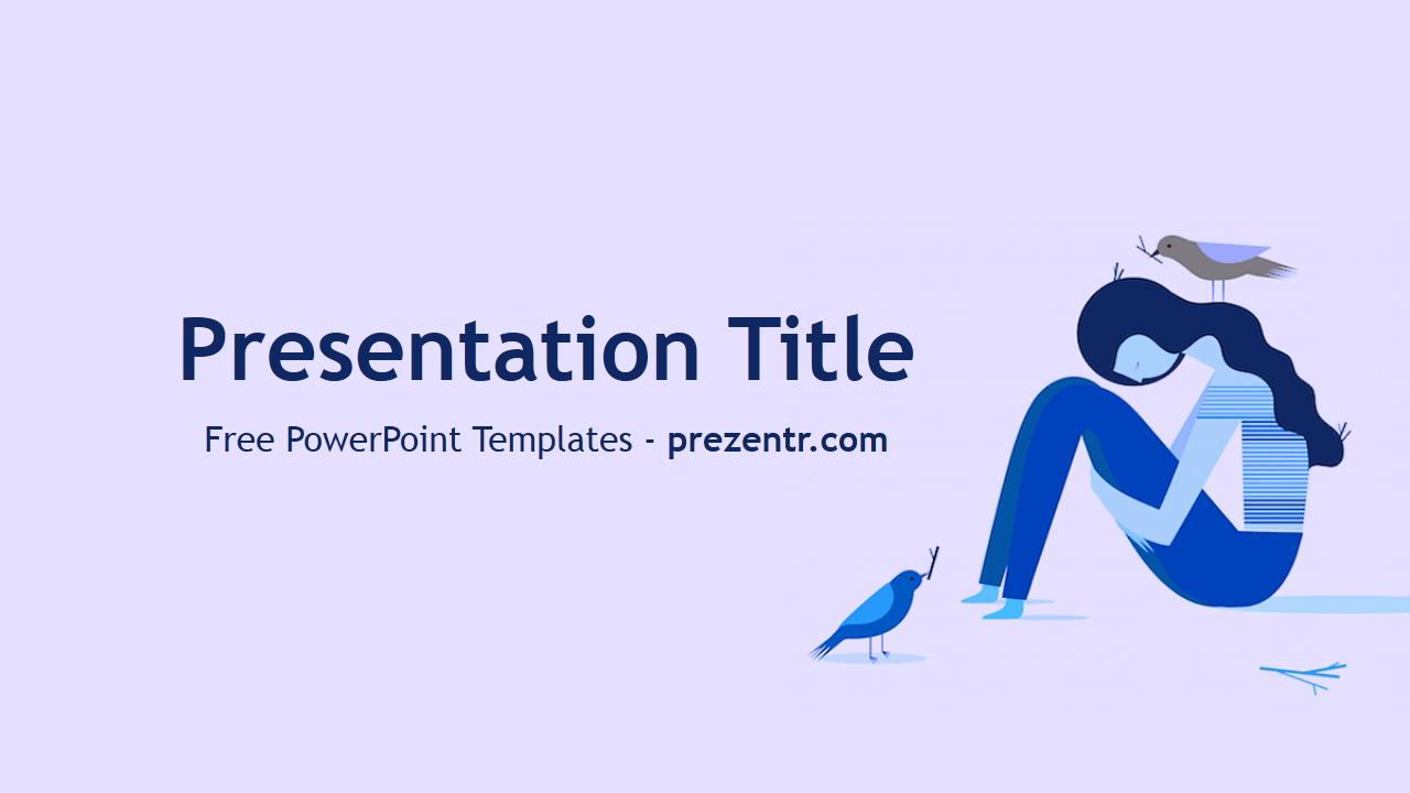 Free Depression Powerpoint Template Prezentr Powerpoint Templates