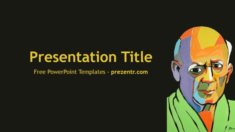 Free Pablo Picasso Powerpoint Template Prezentr Powerpoint