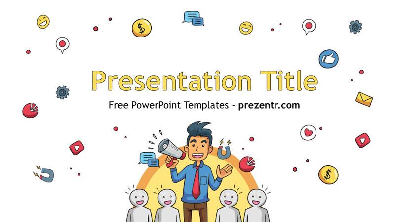 Free Influencer Marketing Powerpoint Template Prezentr Ppt
