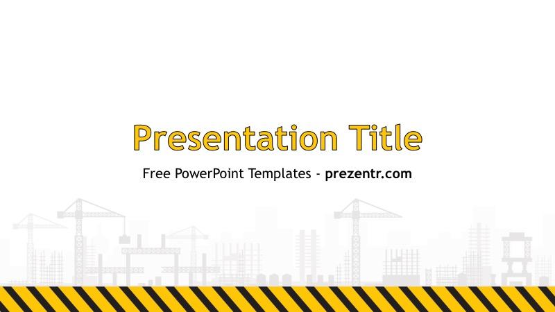 Free Construction Powerpoint Template Prezentr Ppt Templates