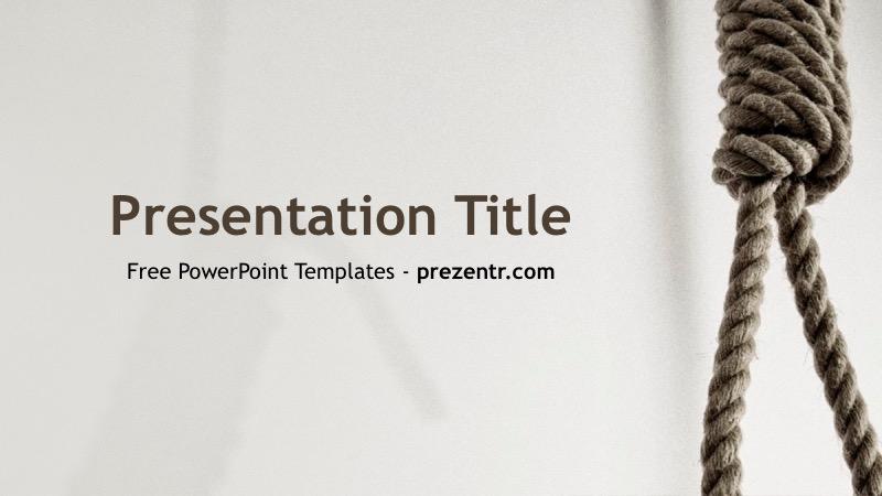 Free Death Penalty Powerpoint Template Prezentr Ppt Templates