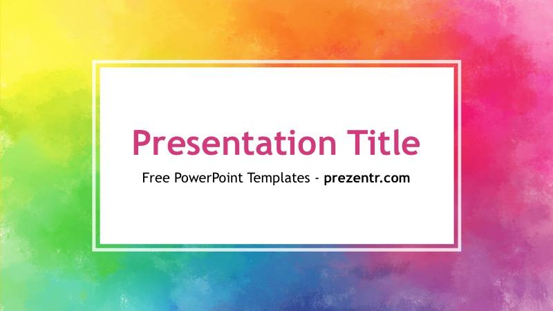 color powerpoint template � prezentr