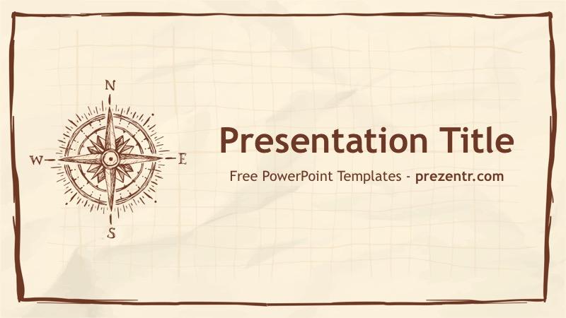 Free Compass Powerpoint Template Prezentr Ppt Templates