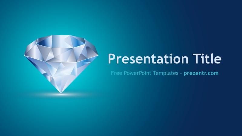 Free Diamond Powerpoint Template Prezentr Ppt Templates