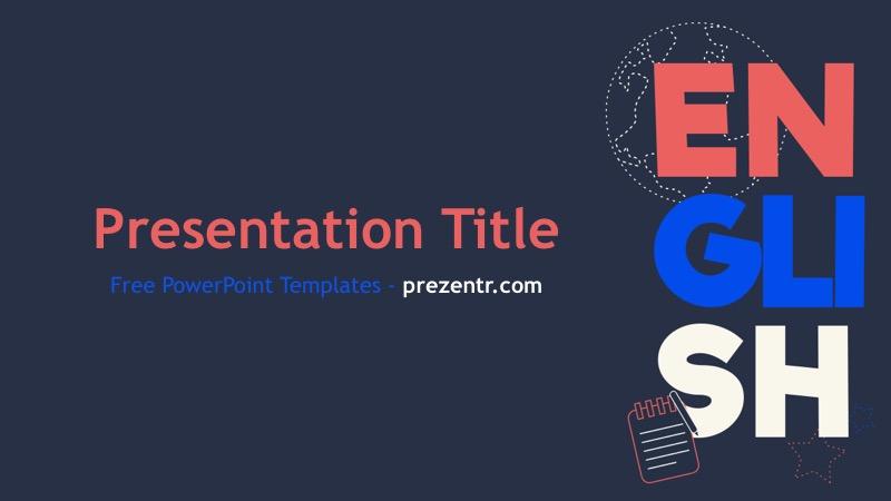 Free English Powerpoint Template Prezentr Ppt Templates