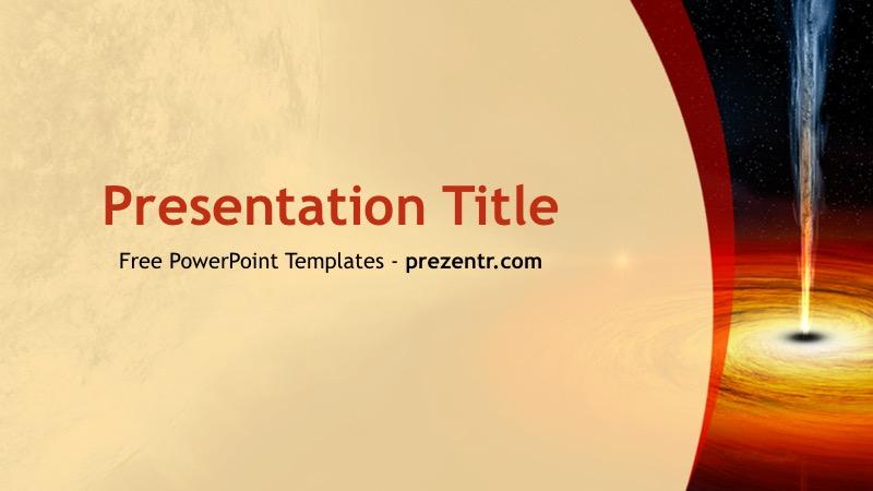 Free Black Hole Powerpoint Template Prezentr Ppt Templates