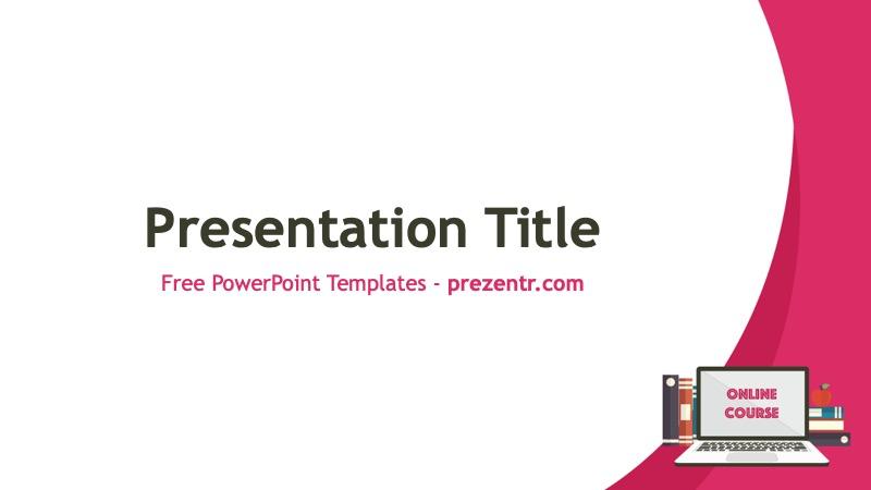 Free Online Course Powerpoint Template Prezentr Ppt Templates