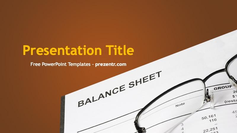 Free Balance Sheet Powerpoint Template Prezentr Ppt Templates