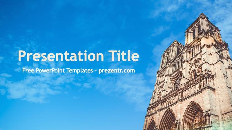 Free Notre Dame Powerpoint Template Prezentr Powerpoint