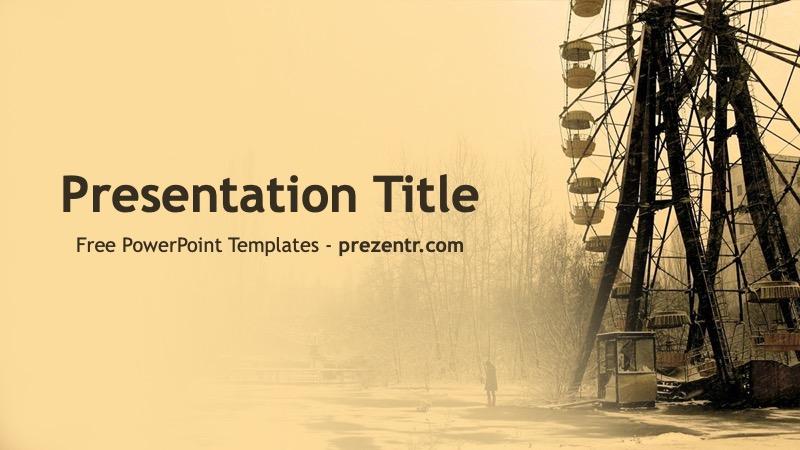 Free Chernobyl Powerpoint Template Prezentr Ppt Templates