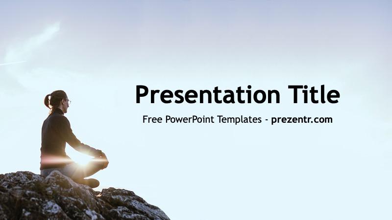 Free Meditation PowerPoint Template - Prezentr PPT Templates