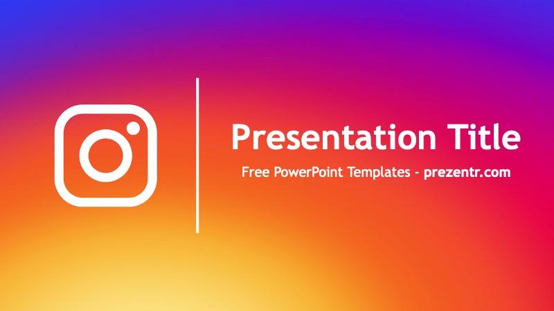 Free Instagram Powerpoint Template Powerpoint Template Prezentr