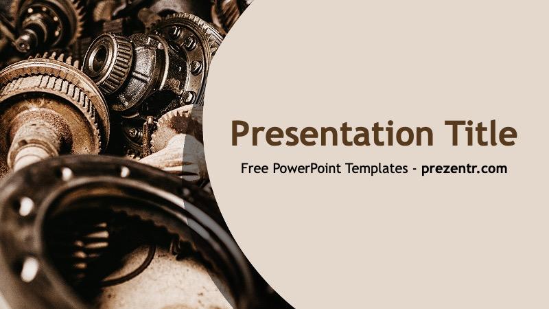 Free Mechanical Powerpoint Template Prezentr Ppt Templates