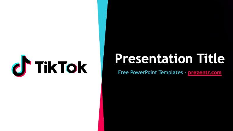 Free Tiktok Powerpoint Template Powerpoint Template Prezentr