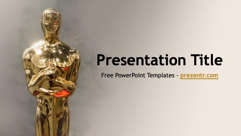 Free Oscars Powerpoint Template Prezentr Ppt Templates